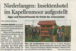 Niederlangen: Insektenhotel im Kappellenmoor aufgestellt