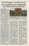 Niederlangen: Insektenhotel im Kappelmoor aufgestellt